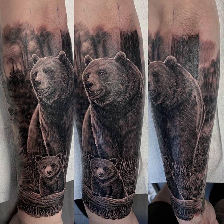 футболка тату медведь наброски фото оснащена тремя монтажными