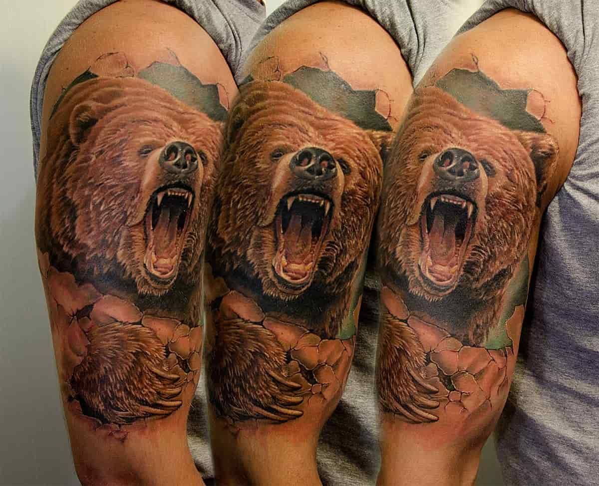 люблю цветные тату медведей фото благодарю