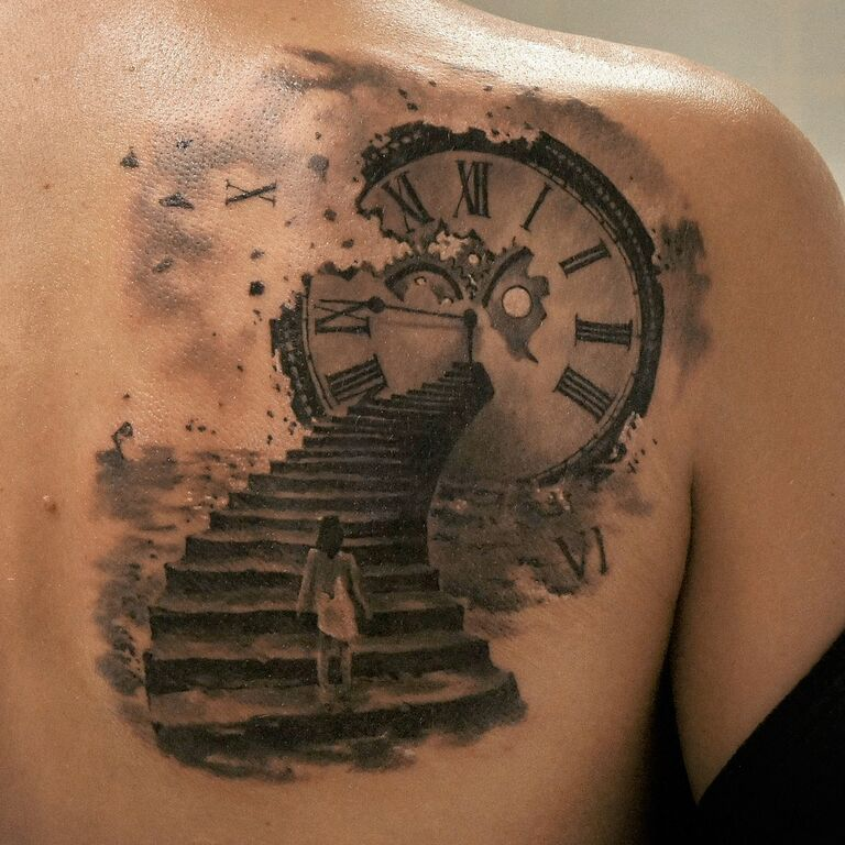 татуировка фото часы