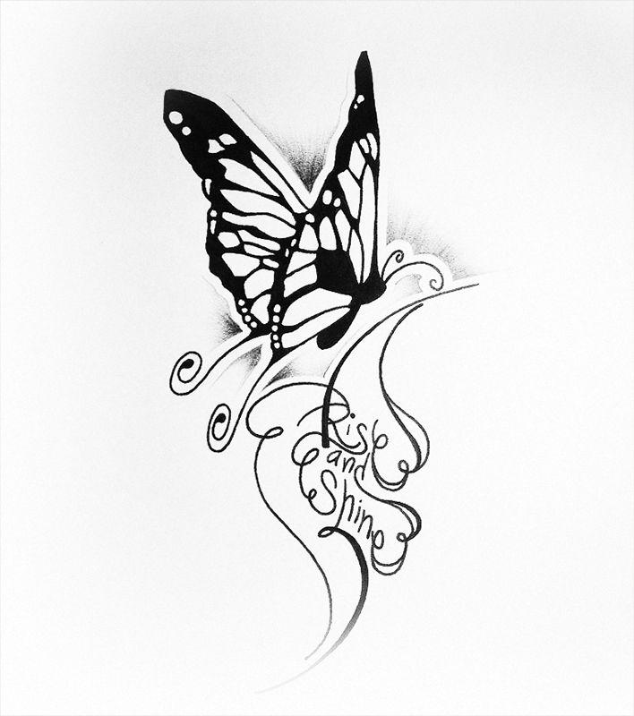 Тату бабочки в картинках