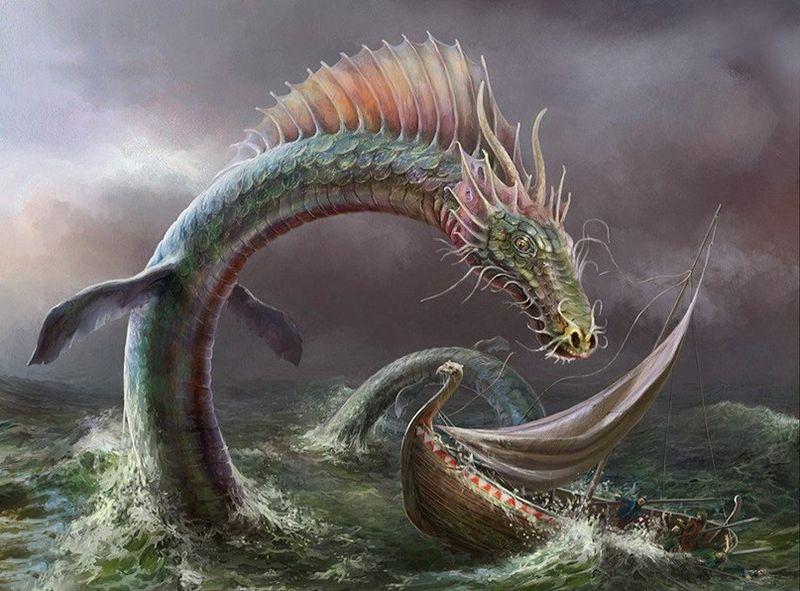 картинки морской змей его жертв