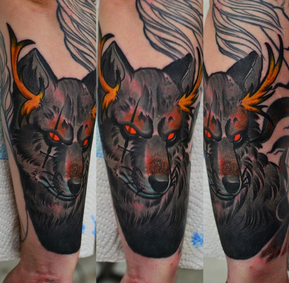 Схема вышивки «Волк» - Вышивка крестом | 941x960