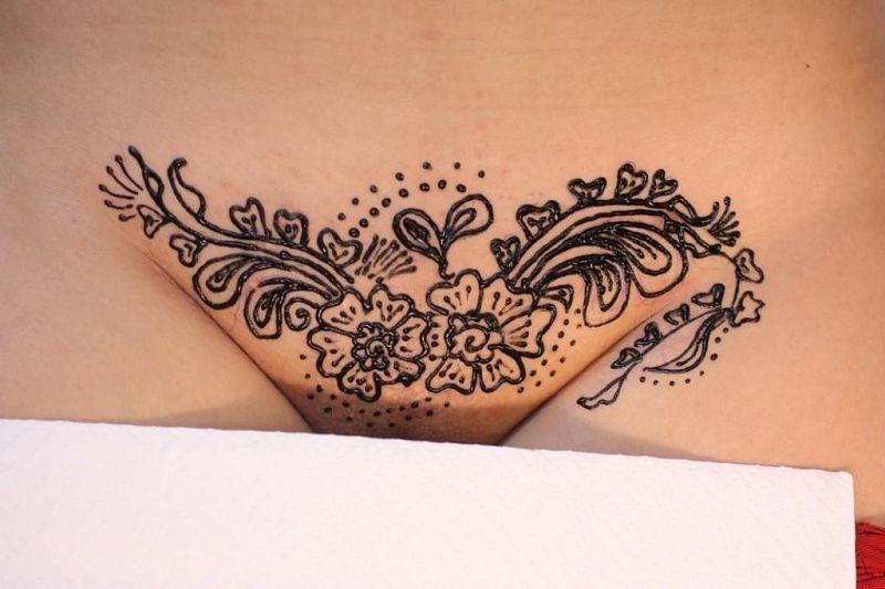 Татуировки хной интимные
