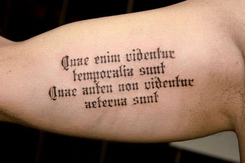 Надписи для тату на латыни с переводом и фото LS