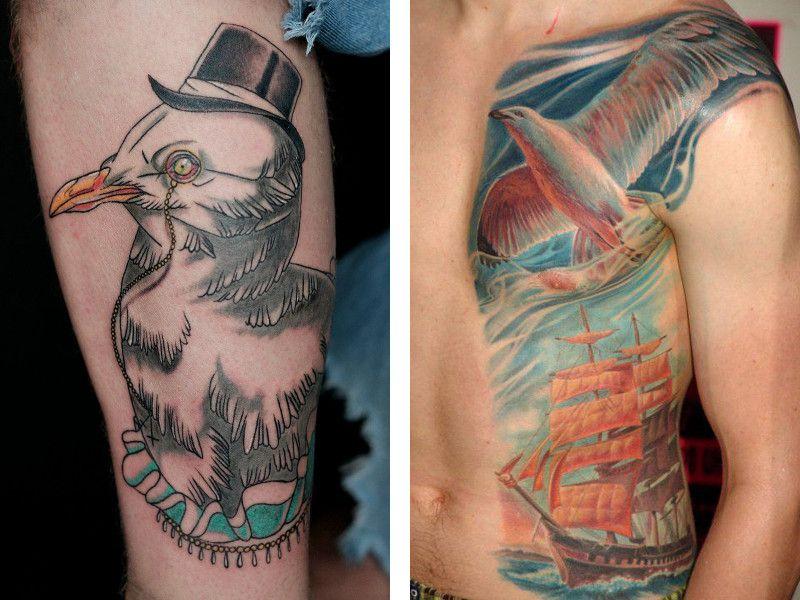 фото тату чайка 06.03.2019 №046 - photo tattoo seagull - tatufoto ... | 600x800